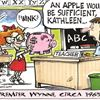 Today's cartoon: Young Kathleen